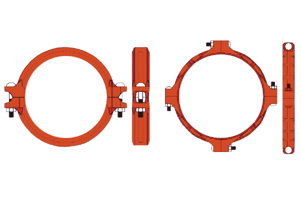 lightweight flexible couplings for fire protection applications