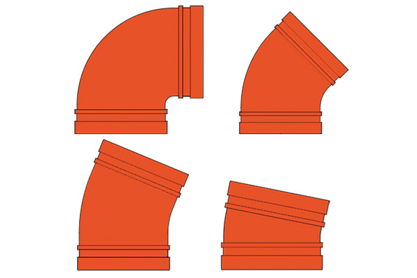 standard pattern elbows for fire protection applications